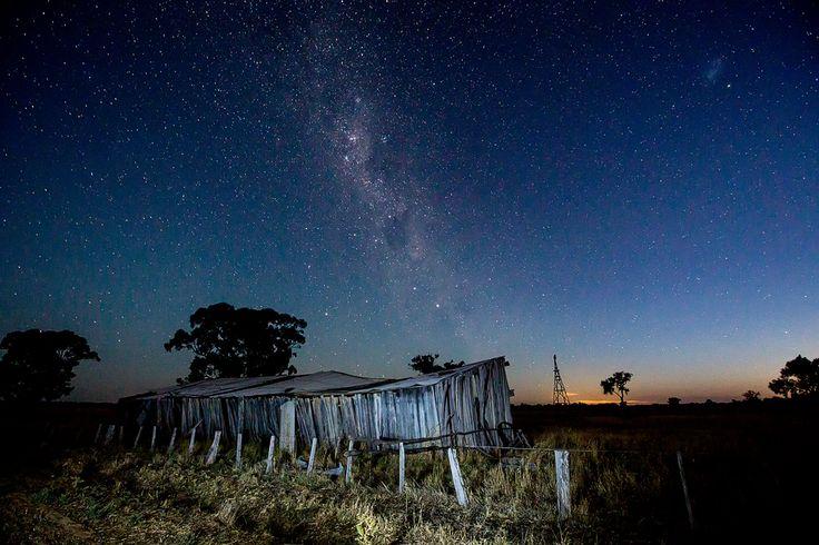 after dusk at Deniliquin Australia