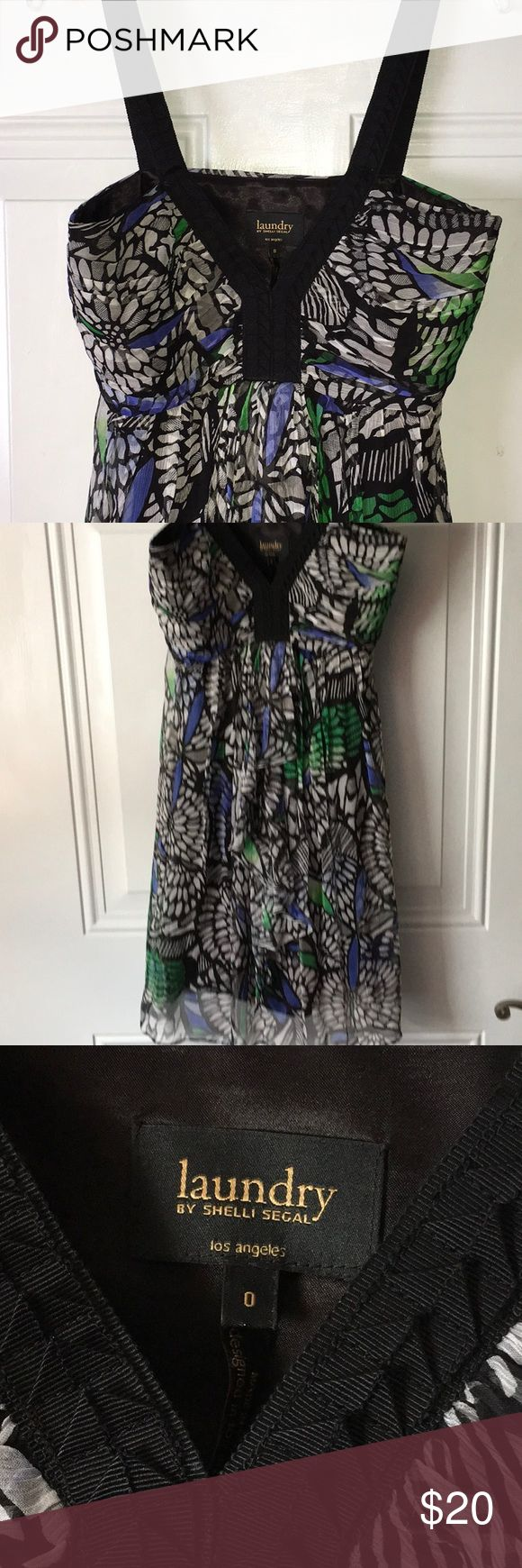 Laundry Shelli Segal Los Angeles Lined Dress Strap dress with side zip. Fully lined. Beautiful for warm weather parties, graduations, weddings and more. Laundry By Shelli Segal Dresses