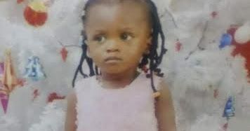 Below is the statement from her family This baby girl Nkemdirim Divinegrace went missing two days ago 6th April 2017 at about 12pm. She was last seen around Ango beach estate Abule oshun water side satellite town Ojo Lagos. She was putting on a yellow top and purple trousers. She is 2yrs old. If seen kindly report to any police station around you or contact the family on this number