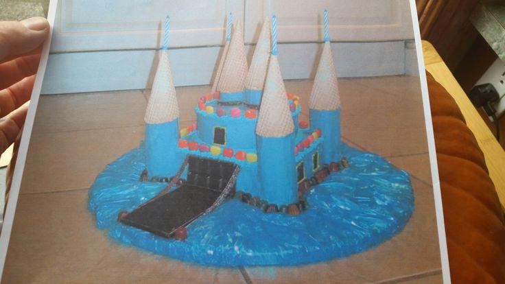 Buttercream Castle Cake