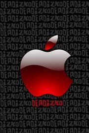 Appleロゴのデジタルアート|おすすめスマホ壁紙
