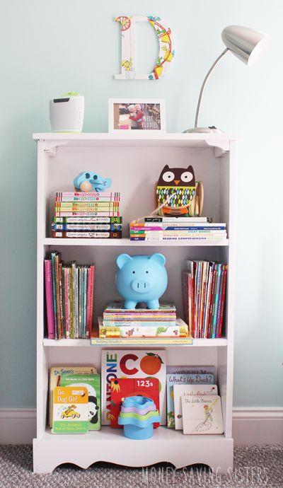 How to style a kids bookshelf