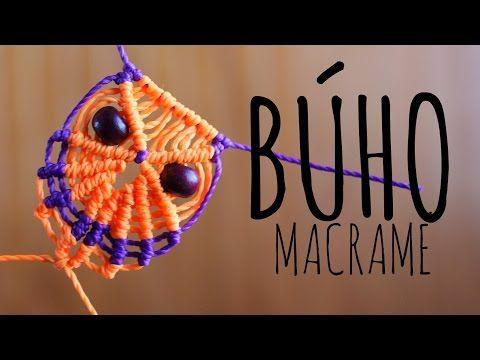 como hacer un buho en macrame | how to make macrame owl Es.PandaHall.com - YouTube