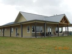 texas barndominium house plans   Picture Gallery - Custom Homes Except with dark wood on the outside panels