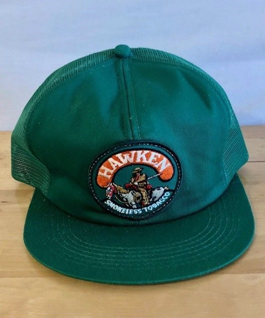 77b87daeb8d68 Vtg HAWKEN Smokeless Tobacco Mesh Patch Trucker Hat Cap Snapback K-Products  USA  fashion  clothing  shoes  accessories  mensaccessories  hats (ebay  link)