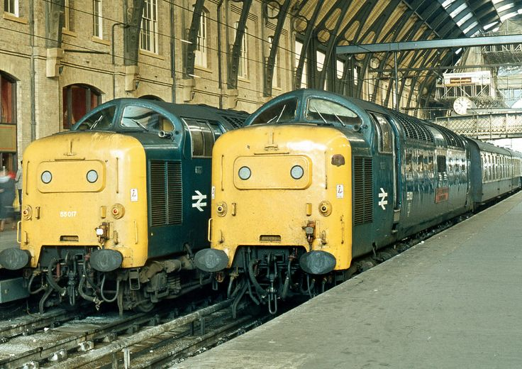 55017 & 55021 at Kings Cross on 22nd Sept 1979.