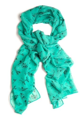 Downtown for Adventure Scarf | Mod Retro Vintage Scarves | ModCloth.com - StyleSays