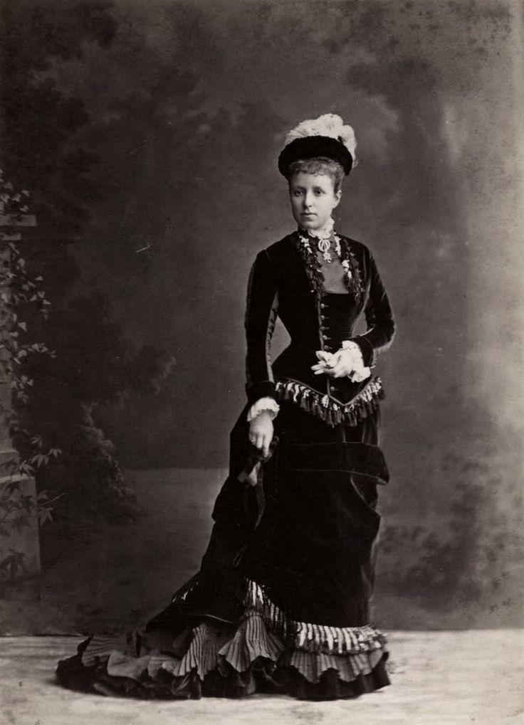 Archduchess Maria Cristina of Austria-Teschen, later Queen Regent of Spain for her son Alfonso XIII (C 1878)