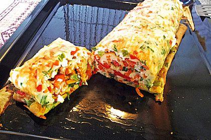 Ofenpfannkuchen mit Gemüse und Feta 1