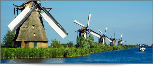 Geography- The Netherlands is the size of Massachusetts and Connecticut combined.  The Netherlands is a country at sea level.  Windmills, symbolic of the Dutch, used to pump unwanted salt water from the land back to the North Sea.  The Kingdom of the Netherlands includes the Caribbean Islands of Curaçao, Sint Maarten, and Aruba.