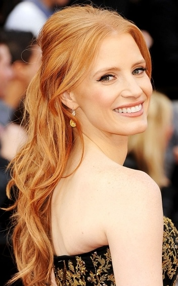 Jessica Chastain is so gorgeous! Does natural hair color get any more beautiful? I think not