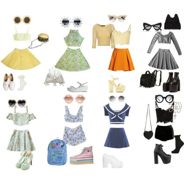 """""""Spring nymphet inspired outfits"""" by rabbitcult on Polyvore"""