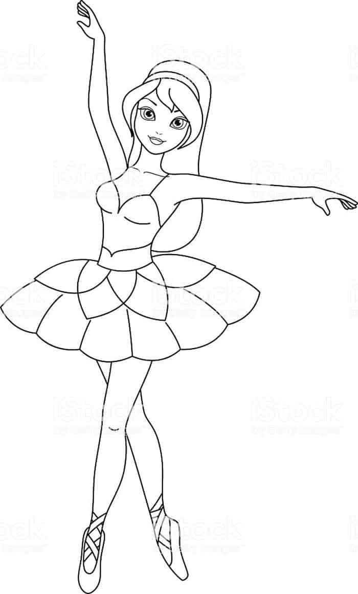 Young Ballet Girl Coloring Pages Ballerina Coloring Pages Dance Coloring Pages Coloring Pages For Girls