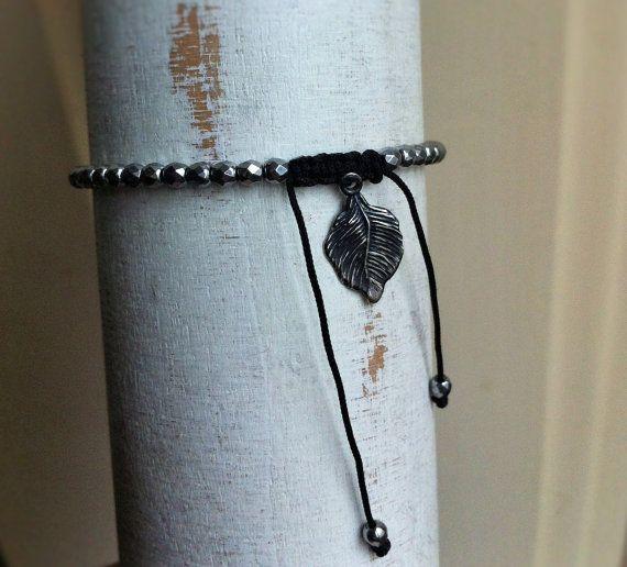 Seed bead faceted hematite stackable bracelet. by BijouxaLaCarte, $30.00
