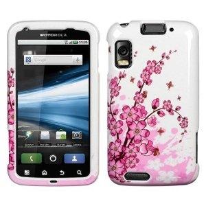 Spring Flowers Design Protector Case for Motorola Atrix 4G (Wireless Phone Accessory)