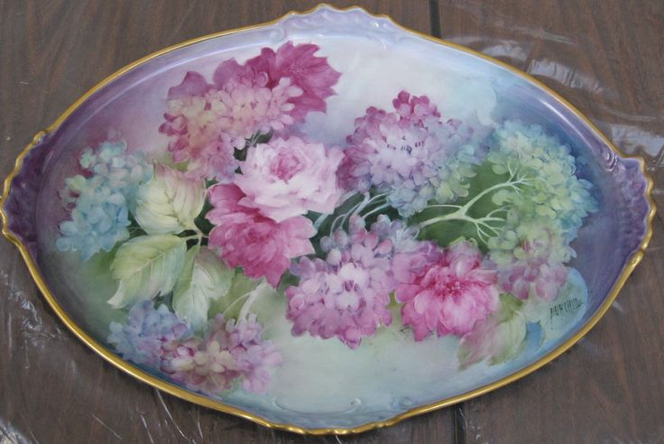 Stunning hand painted antique...