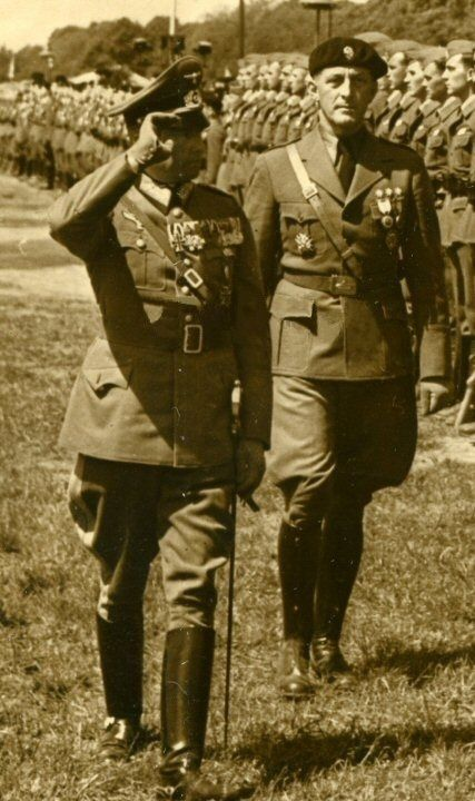 General Walther von Brauchitsch and General Wilhelm Ritter von Thoma during the ceremony in honor of the Legion Condor.