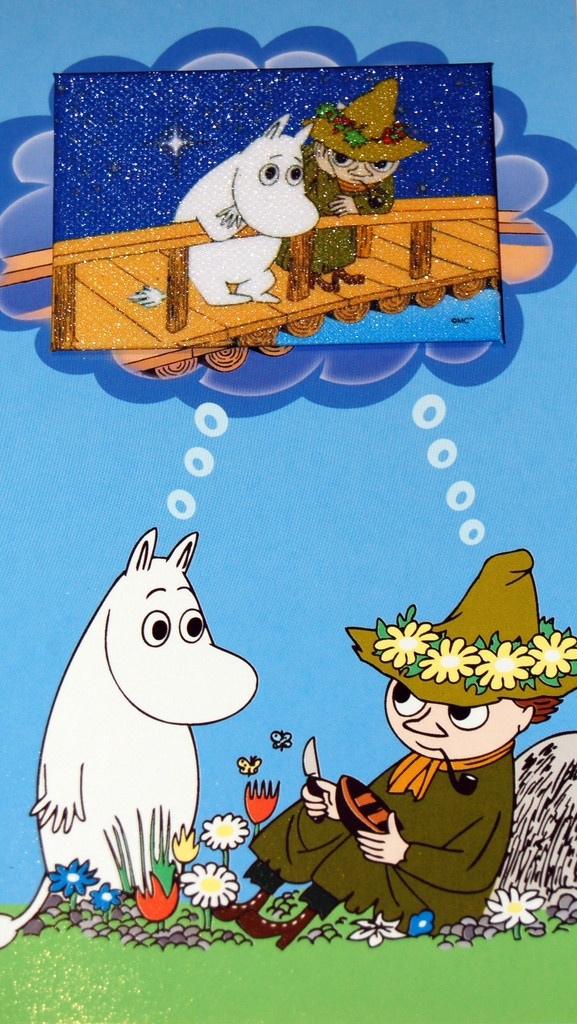 Moomin card with magnet www.funkylittlepeople.co.uk