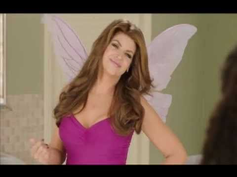 Kirstie Alley in full fairy garb pushes Poise