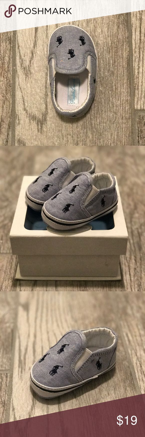 Polo Ralph Lauren Baby Boys' Shoe💙 Never worn, Size 3 Baby Slip On Casual Sneaker Polo by Ralph Lauren Shoes Sneakers