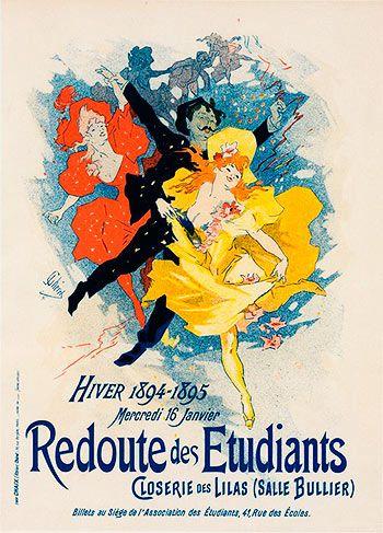 Redoute des Etudiants. Jules Cheret (1894)