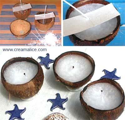 ✩✄✩ Bougies Coco / Coconut Candle ✩✄✩  www.creamalice.com
