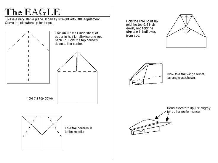 The Eagle! (same website) - directions are awesome, can be printed off, and once kids make airplanes you can have a competition! Great little boy activity that girls can enjoy too.