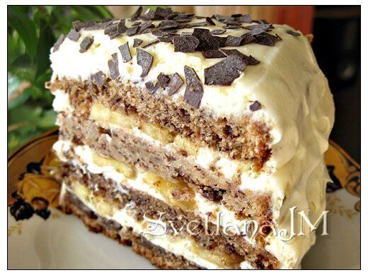 Торт шоколадно банановый рецепт - кулинарный рецепт с фото по шагам