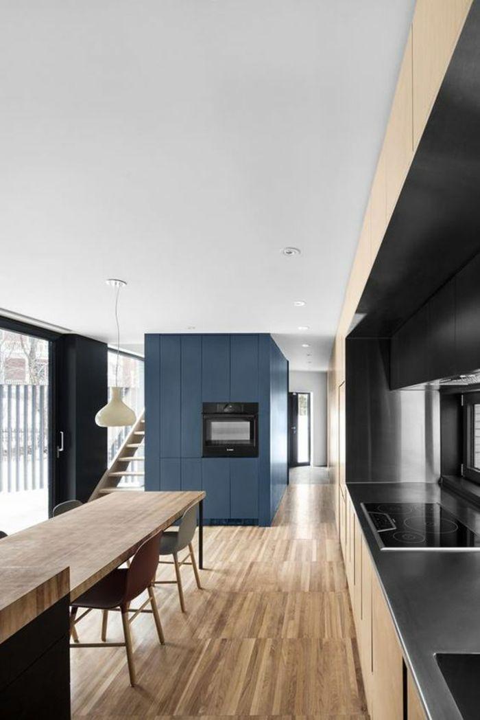best 25 cuisine en longueur ideas on pinterest cuisine moderne comptoirs de cuisine gris and. Black Bedroom Furniture Sets. Home Design Ideas