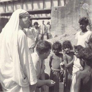 Canonisation de Mère Teresa - le Père Werenfried à sa rencontre
