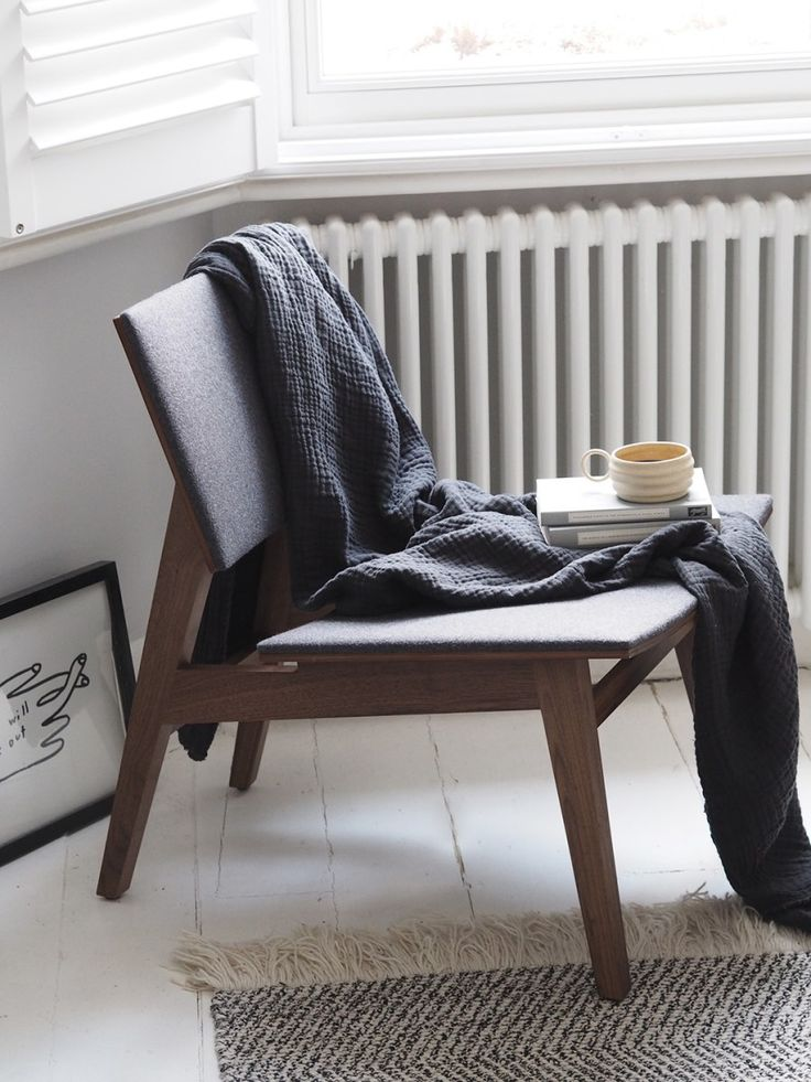 Dark wooden chair Hand crafted contemporary furniture by