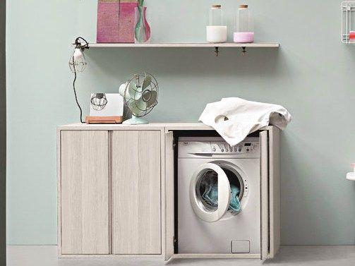 ACQUA E SAPONE Laundry room cabinet for washing machine by Birex design Monica Graffeo