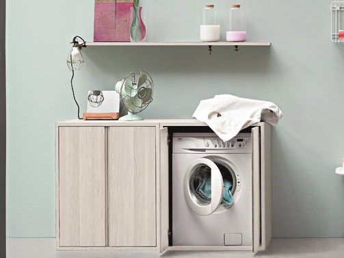 ACQUA E SAPONE Laundry room cabinet for washing machine by Birex design Monica Graffeo
