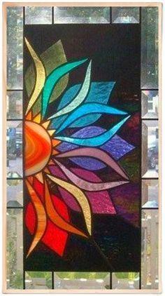 Stained glass flower.. #StainedGlassHouse #StainedGlassMandala