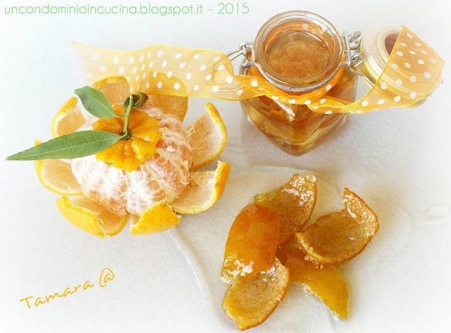 Un condominio in cucina: Scorzette di mandarino (o di arancia) candite: met...