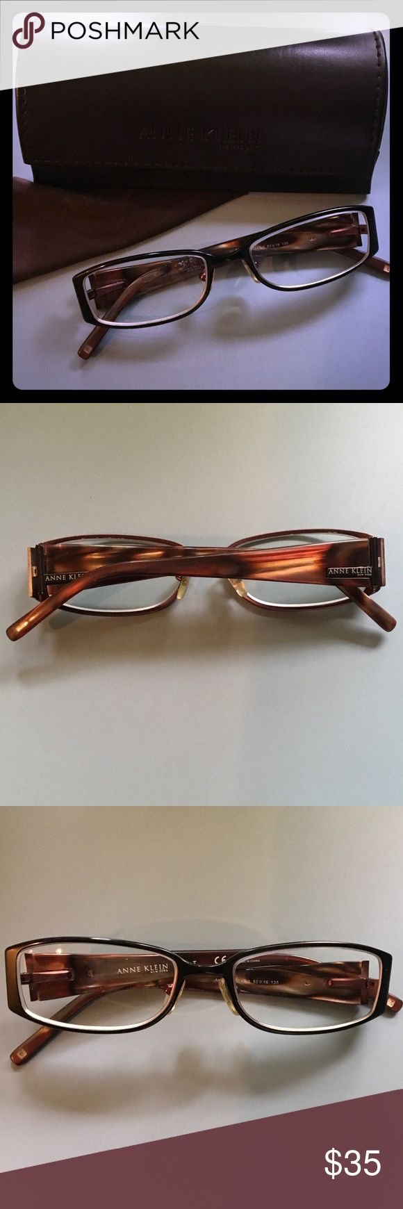 Anne Klein New York prescription eyeglasses Anne Klein New York prescription eyeglasses. Great used condition. The glasses have my prescription in the lenses so they would obviously need to be replaced. Will package with care. Anne Klein Accessories Glasses