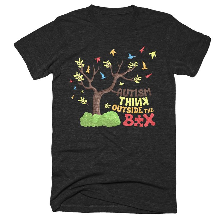 Autism Awareness Shirt Women Men Kids Gift | Think Outside the Box Autism Shirt | Be Different Autistm Tshirt | Embrace Differences Autism S