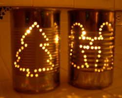 Image for Christmas Tin Can Luminary DIY Craft Project