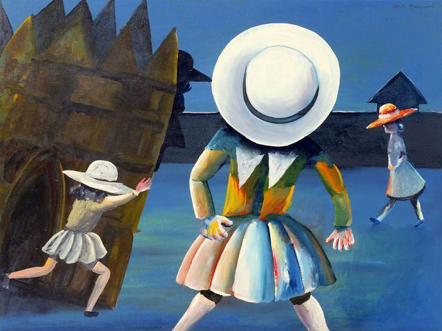 Charles Blackman (born 1928) Schoolgirls 1954
