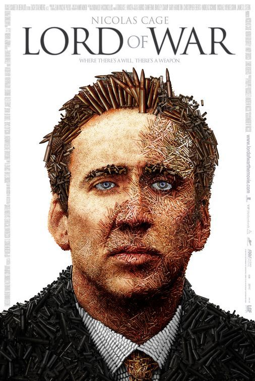 Lord Of War (2005): This film charts the rise and fall of Yuri Orlov, from his early days in the early 1980s in Little Odessa, selling guns to mobsters, through to his ascension through the decade of excess and indulgence into the early 90s, where he forms a business partnership with an African warlord and his psychotic son. The film also charts his relationship through the years with his younger brother, his marriage to a famous model, his relentless pursuit by a determined federal agent..
