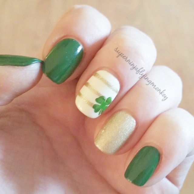 St. Patrick's Day for #clairestelle8march and #warpspeedwednesday. @polishmylife Birthday Suit, @opi_products LAMB, @bundlemonster Creative Art Polish 8 and @winstonia_store stamping image. #stpatricksdaynails #nailstamping #bundlemonster #featuremynails #nailpromote #nailartpromote #nailartoohlala #nailartgallery #nailitdaily #weloveyournailart #nails2inspire #nailsofinstagram #nailfeature #superninjaflyingmonkey #nailsredesigned #nailpolishmuseum