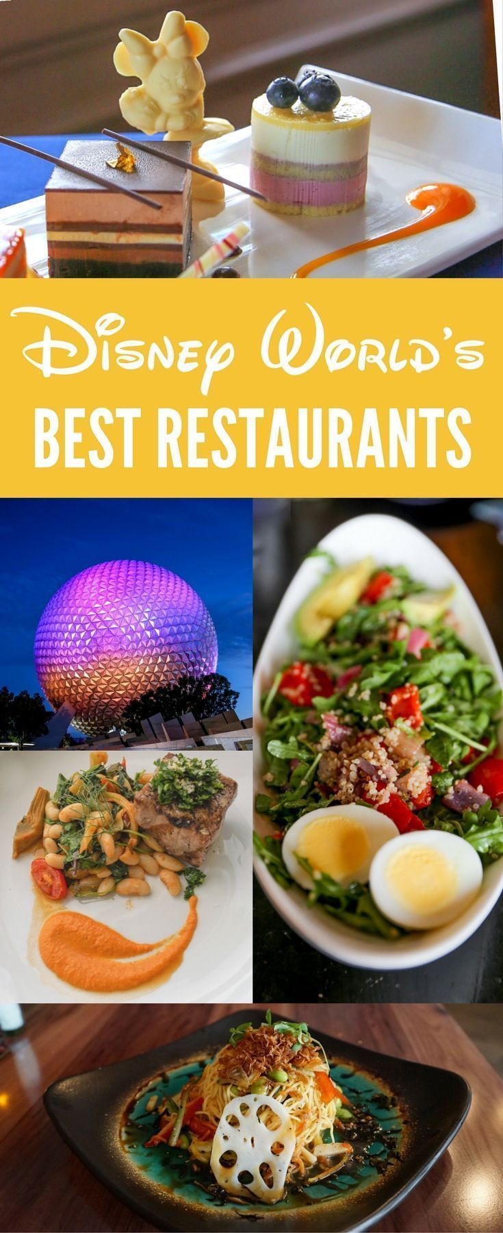 A complete list of the best Disney restaurants for foodies and those who wish to avoid junk food on their Disney World vacation.