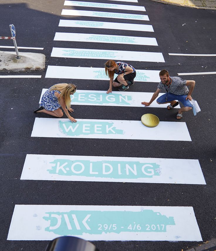 Crosswalk in Kolding, Denmark 2016  #crosswalk #Kolding #guerilla #designweek #designweekkolding #marketing #citymarketing
