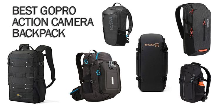 Best GoPro Backpack & Action Camera Bags with GoPro Mounts | GoPro Accessory Compartments | Protect Your Gear When You Take a Tumble