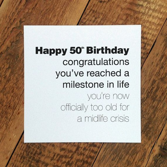 Funny 50th Birthday Card For Men GC131 by CoulsonMacleod on Etsy