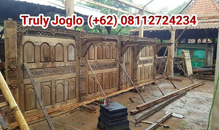 Found in Kudus, a small town in Central Java. Made of teak and detail 3D carving.