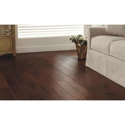 Home Decorators Collection Strand Woven Bamboo Hand Scraped Brown 3/8 in. x 5-1/8 in. x 36 in. Length Engineered Bamboo Flooring(25.60 sq.ft./case)-YY1001 - The Home Depot