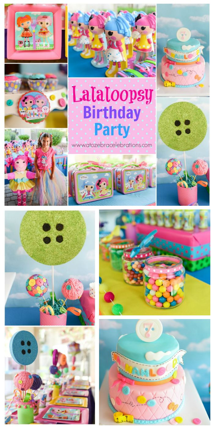 What an incredible, colorful Lalaloopsy girl birthday party with cute dolls and buttons everywhere!  See more party ideas at CatchMyParty.com!