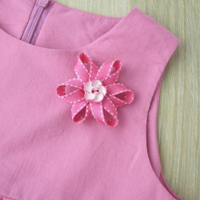 Make a Pretty Ribbon Flower Brooch