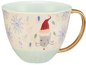 Christmas #affiliatelink #christmas #holidays #gifts   Anthropologie Emily Isabella Christmas Cat Mug, Multi